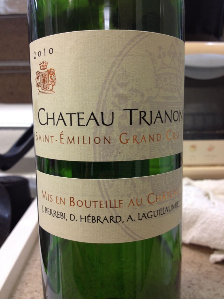 Chateau Trianon Saint-Emilion Grand Cru 2010 65USD @KE DFS