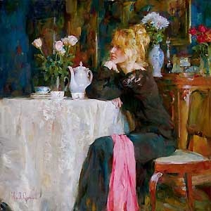 Teatime Daydreams - Michael and Inessa Garmash - World-Wide-Art.com - $1100.00 #Garmash