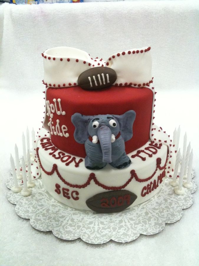 alabama cakes for girls | One Alabama Football Pop Top Cake Topper Perfect For Cakes Cookie Cake ...