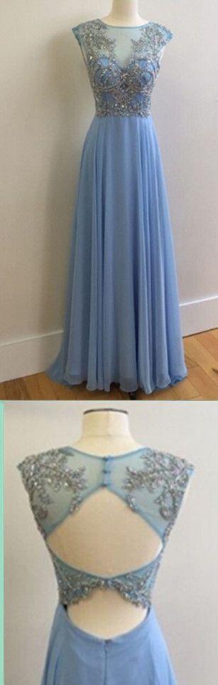 Chiffon Beading Long Prom Dress,Evening Dress,Prom Dresses