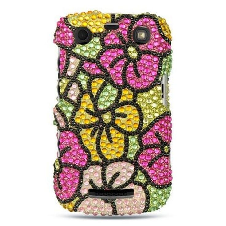 Insten Colorful Hard Snap-on Diamond Bling Case Cover For BlackBerry Curve 9360 #2291934