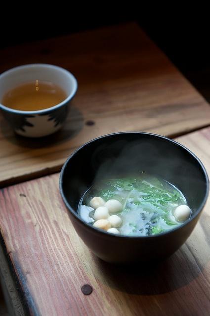 味噌汁 Miso soup, full of antioxidants, vitamins, and living culture.