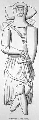 Hugh II Peverell  1223–1259    BIRTH 1223 • Ermynton, Devon, England  DEATH 1259 • Bodmin, Cornwall, England  21st great-grandfather. Burial: St. John the Baptist Churchyard, Sampford Peverell, Devon, England. Wife: Isabel FitzWilliam