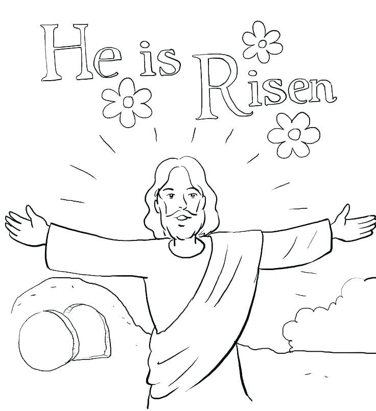 Free Printable Easter Risen Color Page Jesus Coloring Pages Easter Sunday School Sunday School Coloring Pages