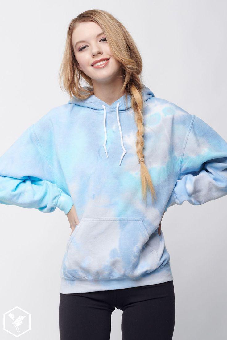 Cloud nine tie dye hoodie in 2020 tie dye hoodie custom