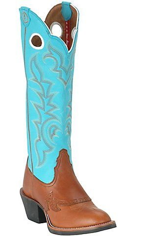 Tony Lama® Ladies 3R Buckaroo Tall Brown & Turquoise Top Boot | Cavender's Boot City