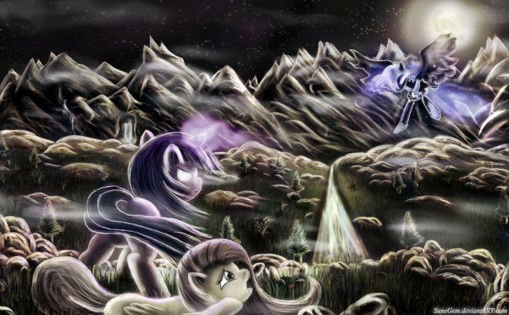 Download Twilight Vs Nightmare Moon 1920x1200 HD Wallpaper