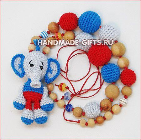 "Nursing necklace ""Elephant Tiny"""