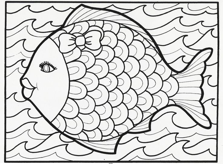 This fancy fish coloring book page is from our classic Let's Doodle book, which…