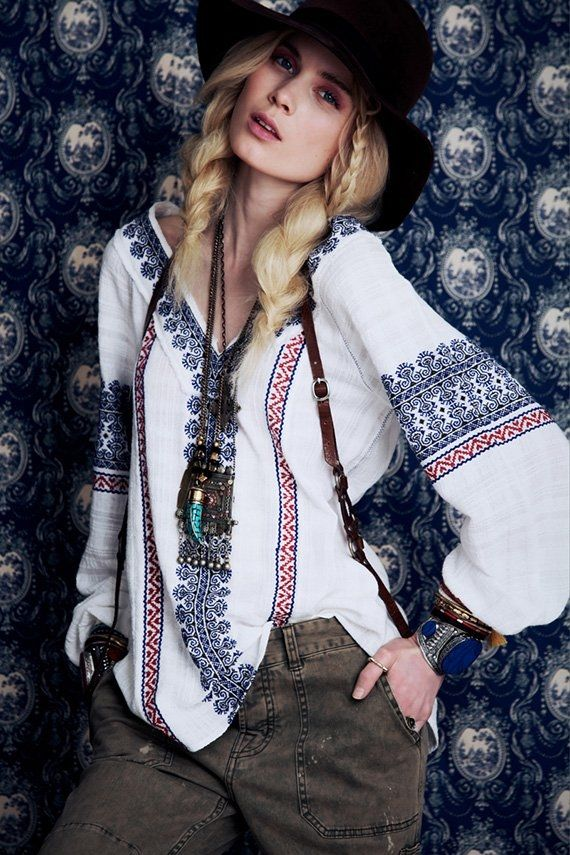 Поредната доза шик от Free People :: Стил - whatever that says....  but who knew you could look so hip in a ukrainian blouse!