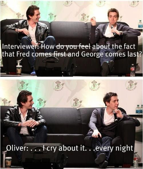 Oh Oliver, I know it sucks but George and Fred is just so unnatural ;D