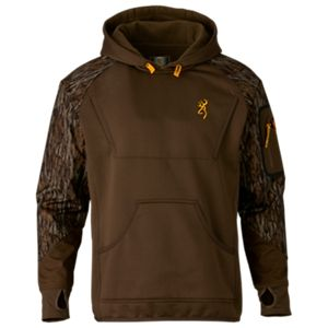 Browning Wicked Wing Timber Fleece Hoodie for Men - Mossy Oak Bottomland - 2XL
