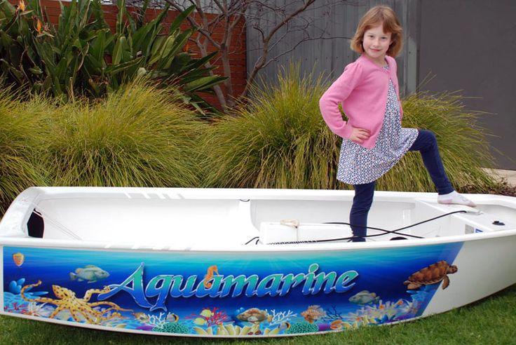 "Optimist Dinghy Graphics for ""Aquamarine"" by www.optiwraps.com"