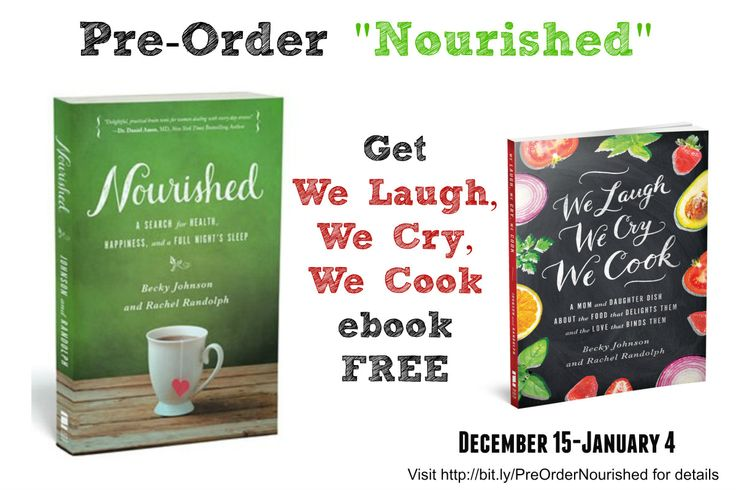 Zondervan is offering a buy one get deal for two books co-written by mother-daughter writing team, Becky Johnson and Rachel Randolph. Pre-order the book or ebook of Nourished: A Search for Health, ...