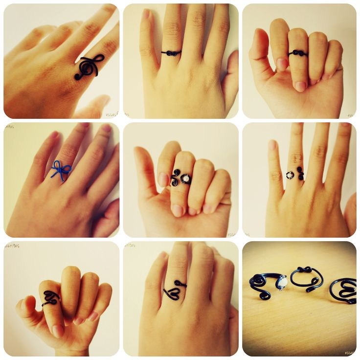 all diy rings  Make the treble clef for the band kids, the hearts and other things for other people