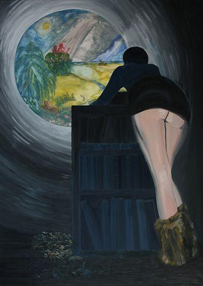 Projection, 2008, oil on canvas, 210 x 150 cm   / Projekcja, 2008, olej na płótnie, 210 x 150 cm