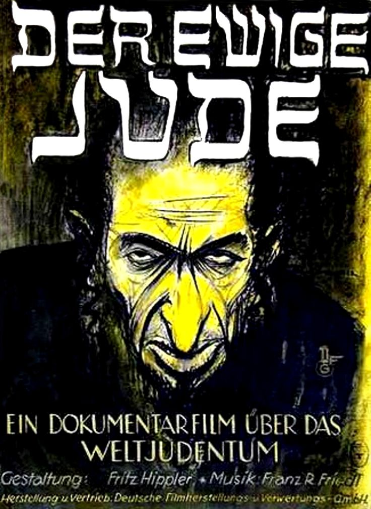"The Eternal Jew (""Der Ewige Jude""), Movie 1940. German Poster"