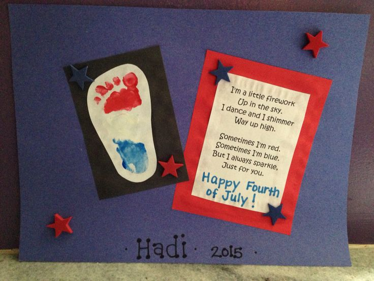Infant footprint with firework poem