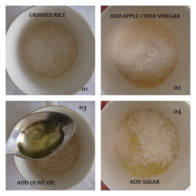 Rice and Sugar Foot Scrub: Do It Yourself
