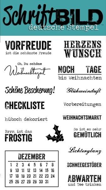 SchriftBILD Stempel: Mein Dezember (by Sylvia) - Scrapabilly