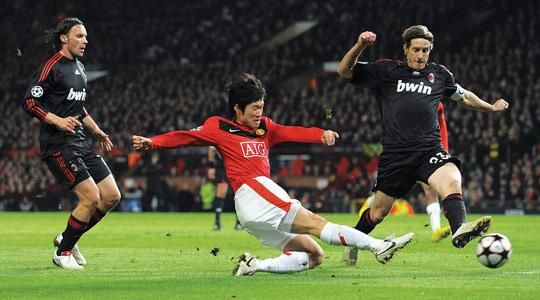 Park Ji-Sung scores United's third against Milan
