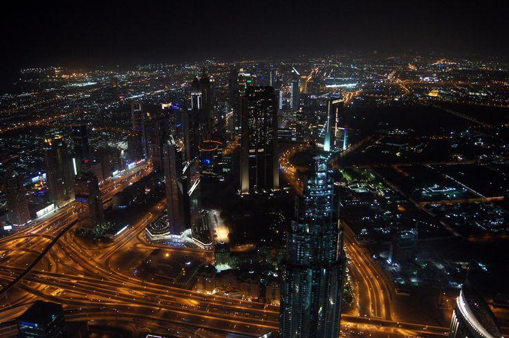 View from Burj Khalifa #dzendrus #goodnight #atthetop #burjkhalifa #view #podróże #travel #traveler #traveling #travelblog #travelblogger #emirates #dubai