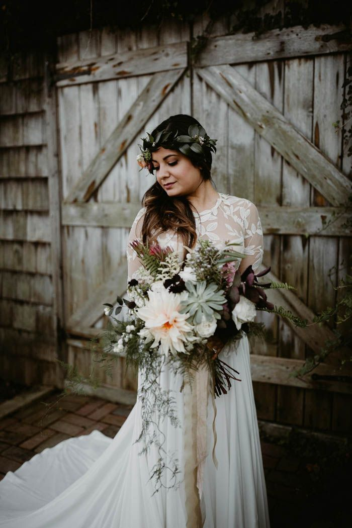 Anny and Luis' wedding the Terrain at Glen Mills was a rustic and bohemian dream come to life with flea market finds and DIY project galore.