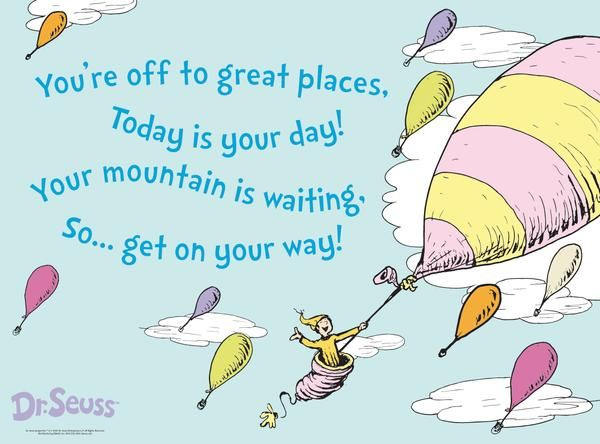 Naming Ceremony Reading: 'Oh the places you'll go' by Dr Seuss