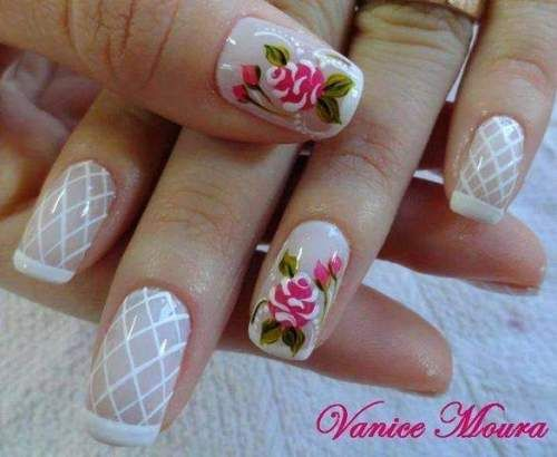 unhas decoradas com rosas - 04                                                                                                                                                                                 Mais