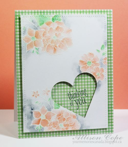 Thinking of You #card by Allison Cope for #SCTMagazine - includes video tutorial