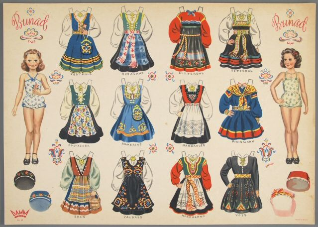 77.4213: Bunad | paper doll | Paper Dolls | Dolls | National Museum of Play Online Collections | The Strong