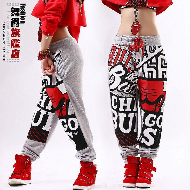 2015 New fashion Adult jogging pants joggers star Sweatpants Costumes sports harem Hip hop dance practice pants