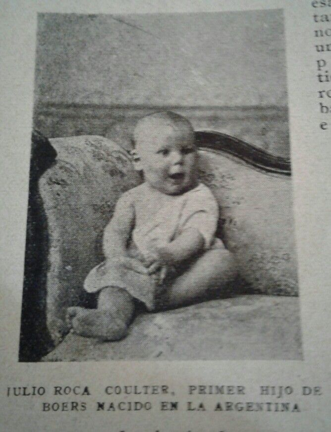 Julio Roca Coulter, boer first child born in Argentina. 1904.