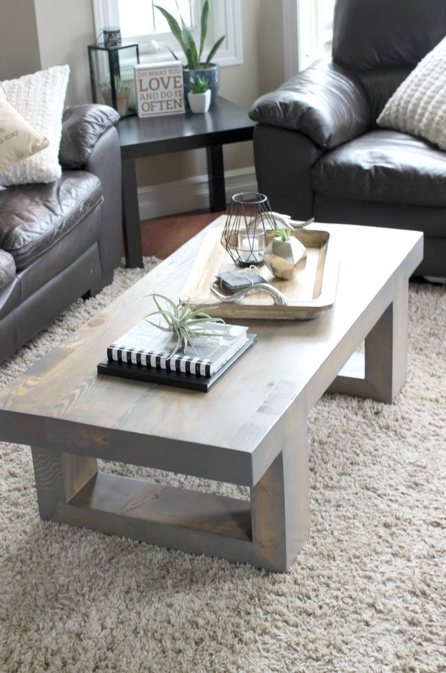 Modern Coffee Table Build Plans | For the Home | Decorating coffee ...