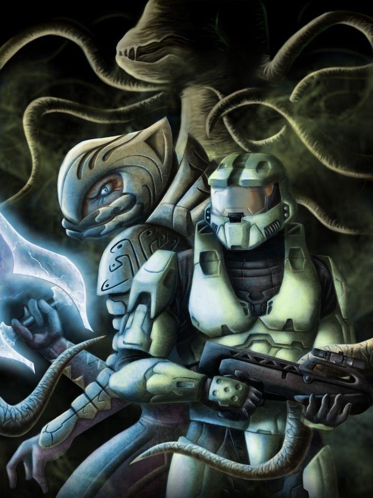 The Arbiter & Master Chief vs The Flood | Halo | Pinterest ...