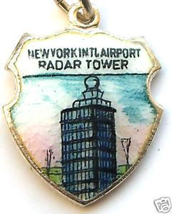 New York Airport JFK Radar Tower Travel Shield Charm | eBay