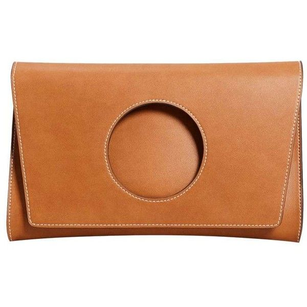 Circle Flap Clutch ($50) ❤ liked on Polyvore featuring bags, handbags, clutches, circle handbag, metallic clutches, circular handbag, mango handbags and orange handbags