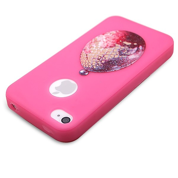 Case-Max Soft Protective Case Cover with Amazing Pattern for iPhone 4/4S|sku_330005|Pink iPhone 4 Cases