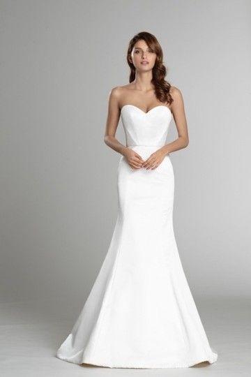 Ivory Oyster Silk Faced Duchesse Satin 9554 Feminine Wedding Dress