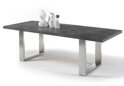 Esstisch Stone Tisch Esstisch Esszimmertisch anthrazit grau rost mit Auswahl
