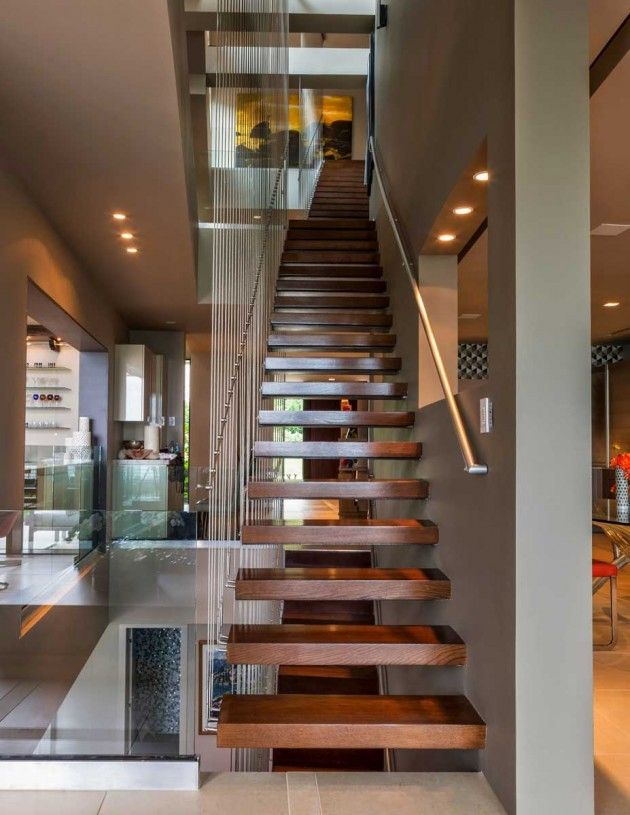 Beautiful staircase. Narofsky #Architecture designed the Sands Point Residence on Long Island, New York.