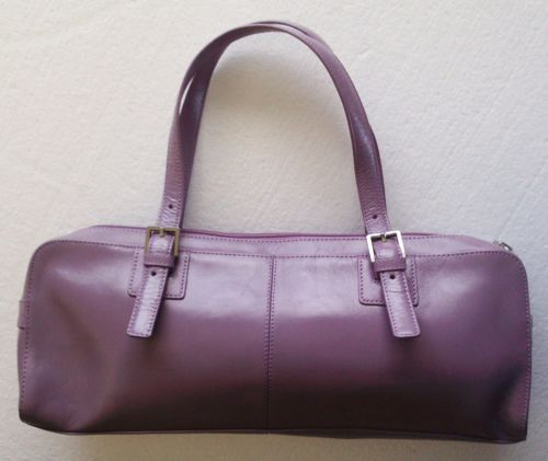 HOBO INTERNATIONAL Purse HANDBAG Lavender PURPLE Leather GREAT ~ Free ...