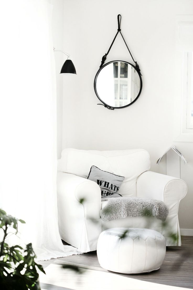 GUBI // Andet circulaire mirror and Bestlite BL7 wall lamp