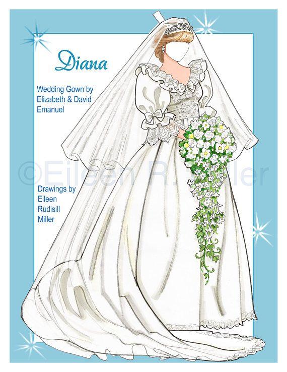 Princess Diana Paper Doll Barbie Paper Dolls Paper Dolls Clothing Paper Dolls
