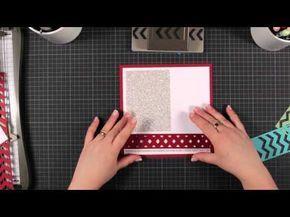 ▶ Trickkiste - Techniken rund ums Stempeln - Stanze Pfeilbordüre - YouTube
