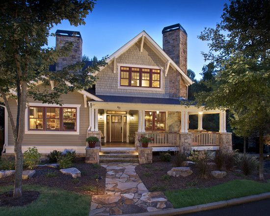 Four square craftsman with wrap around porch design for Craftsman wrap around porch