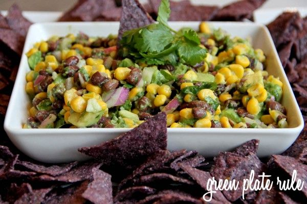 Avocado Black Bean Corn Salsa via Green Plate Rule