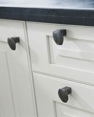 Railroad spikes for hardware. Might have to do this for Crystalynn's Laundry Room.
