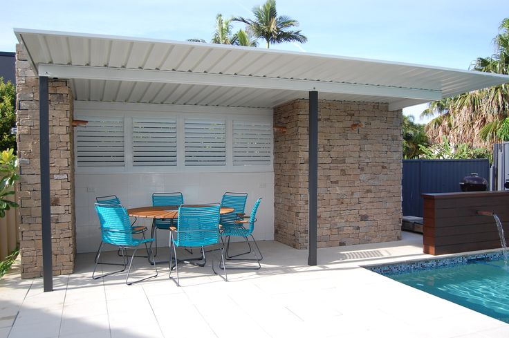 Simple and Stylish Outdoor shutters set this space off Perfectly http://www.seabreezeshutters.com.au