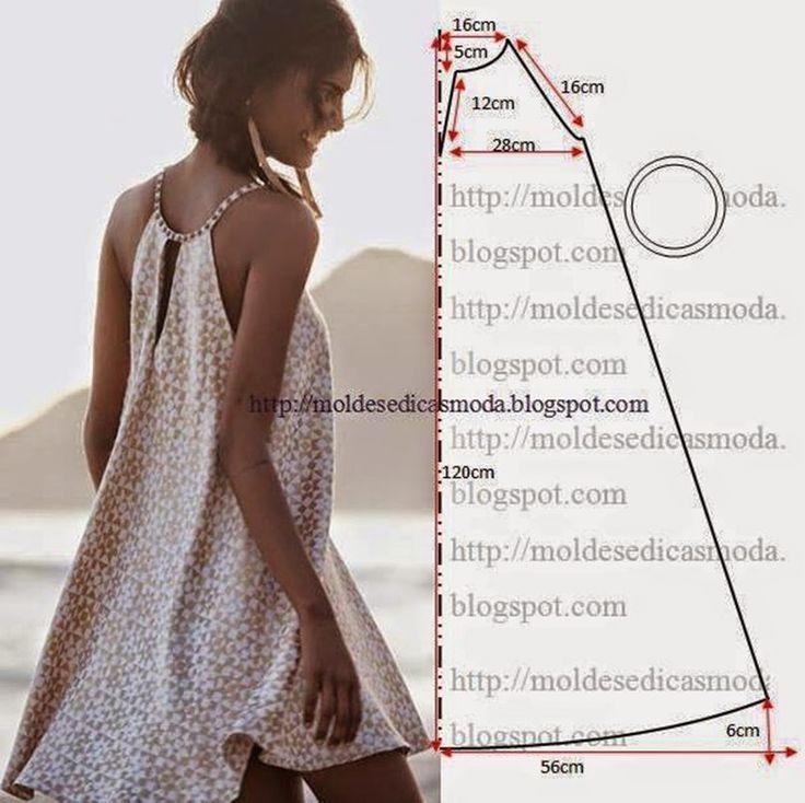 Широкое летнее платье выкройка